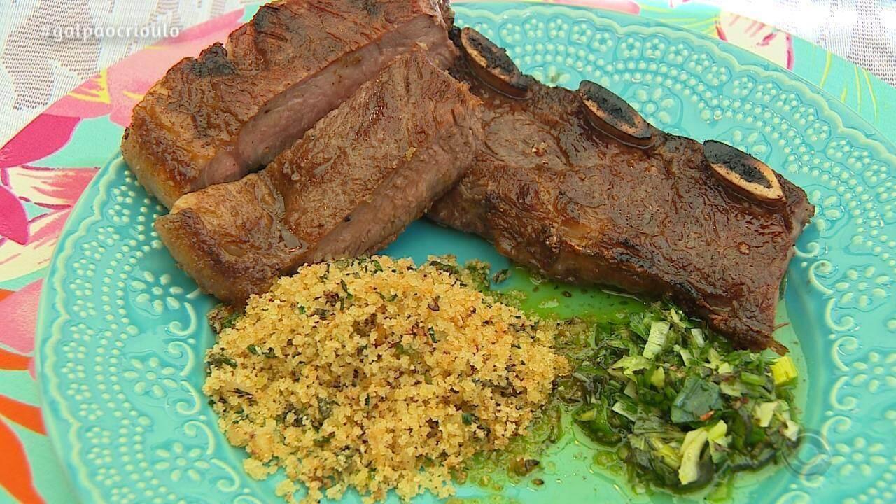 Churrasco é receita do quadro Cozinha de Galpão