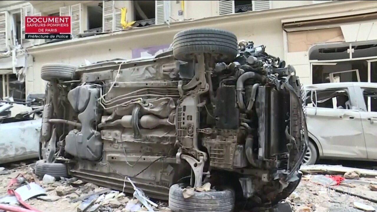 Paris vive dia tenso com explosão causada por vazamento de gás e protesto contra o governo