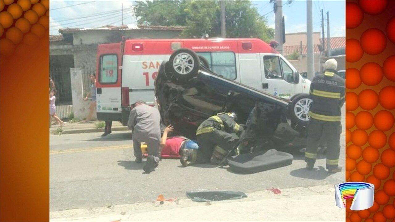 Motorista fica ferido em acidente em São José