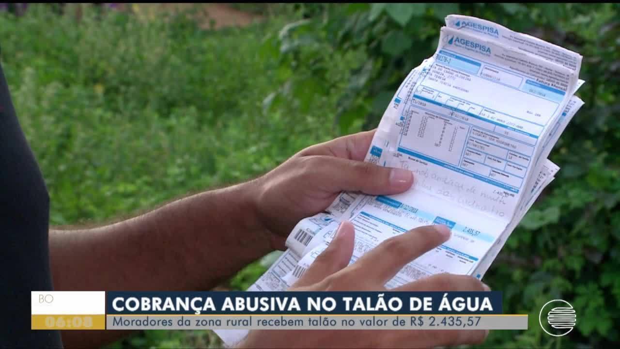 Moradores da Zona Rural recebem cobranças abusivas no talão de água
