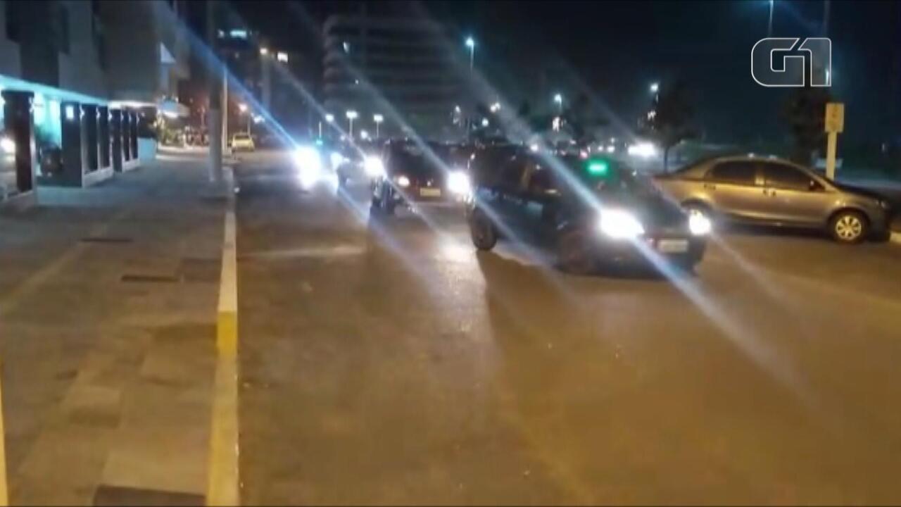 Motoristas de aplicativo fazem protesto por mais segurança em Capão da Canoa