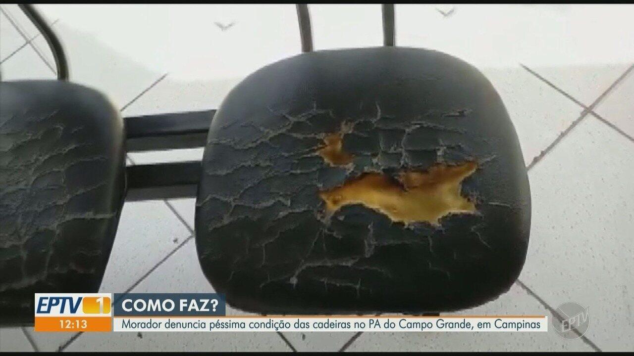 Precariedade das cadeiras de Posto de Saúde revolta usuários em Campinas