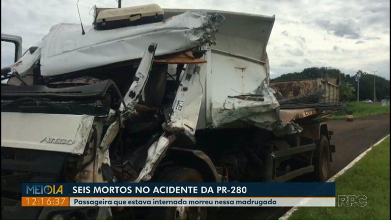 Morre a sexta vítima do acidente entre um ônibus e um caminhão