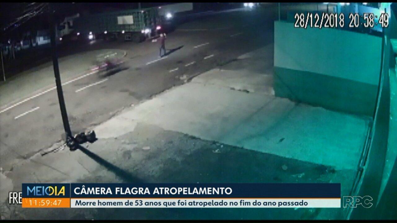 Câmera flagra atropelamento em Maringá