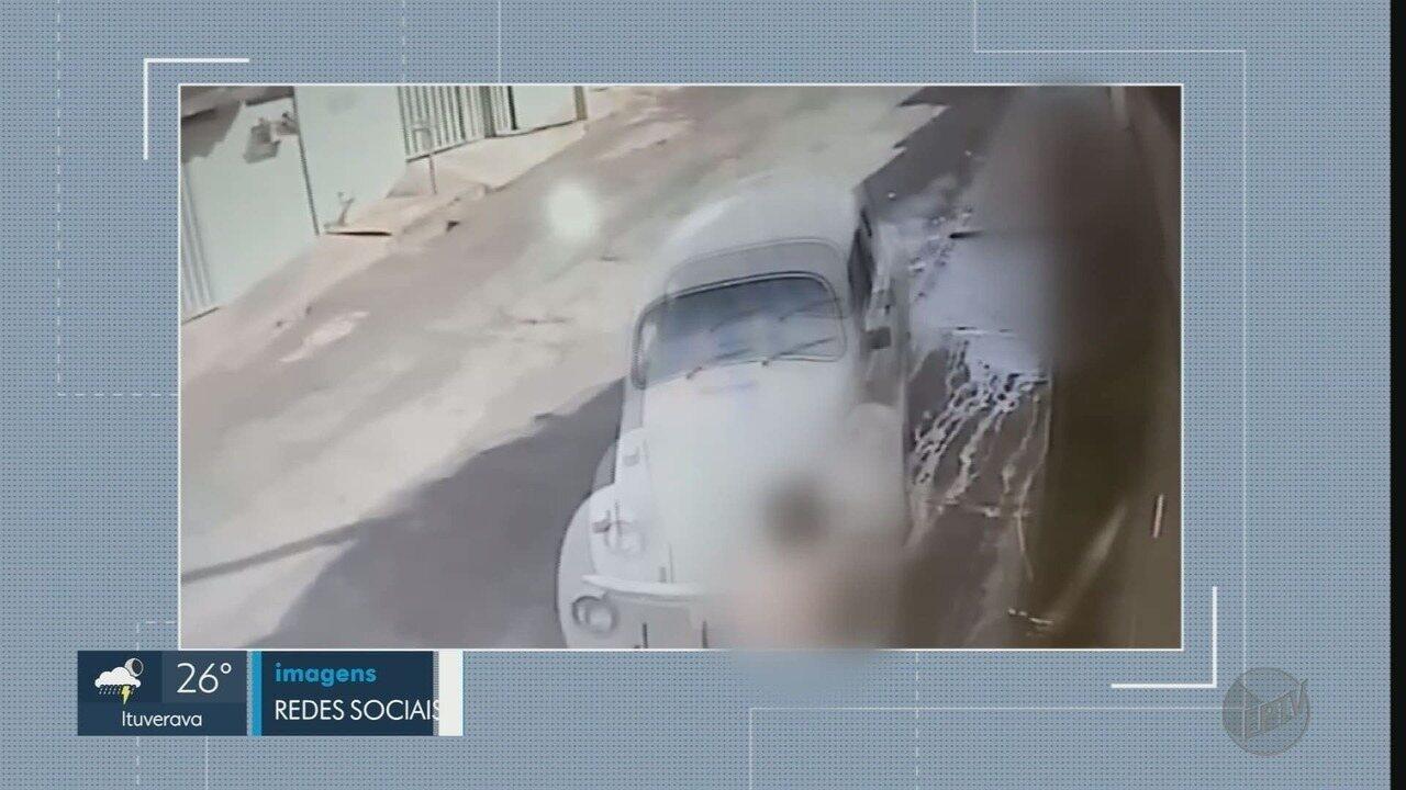 Homem é preso após jogar o carro contra a ex-mulher e o namorado dela em Cravinhos, SP