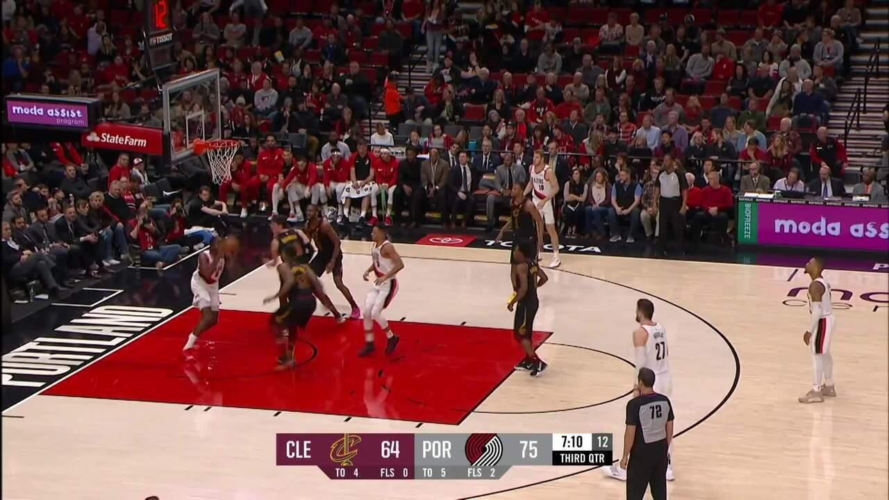 Melhores momentos: Portland Trail Blazers 129 x 112 Cleveland Cavaliers