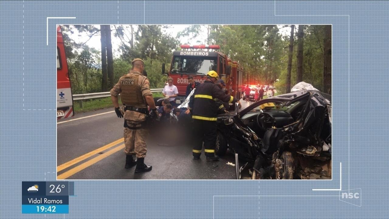 Acidentes deixam feridos na BR-282 em SC