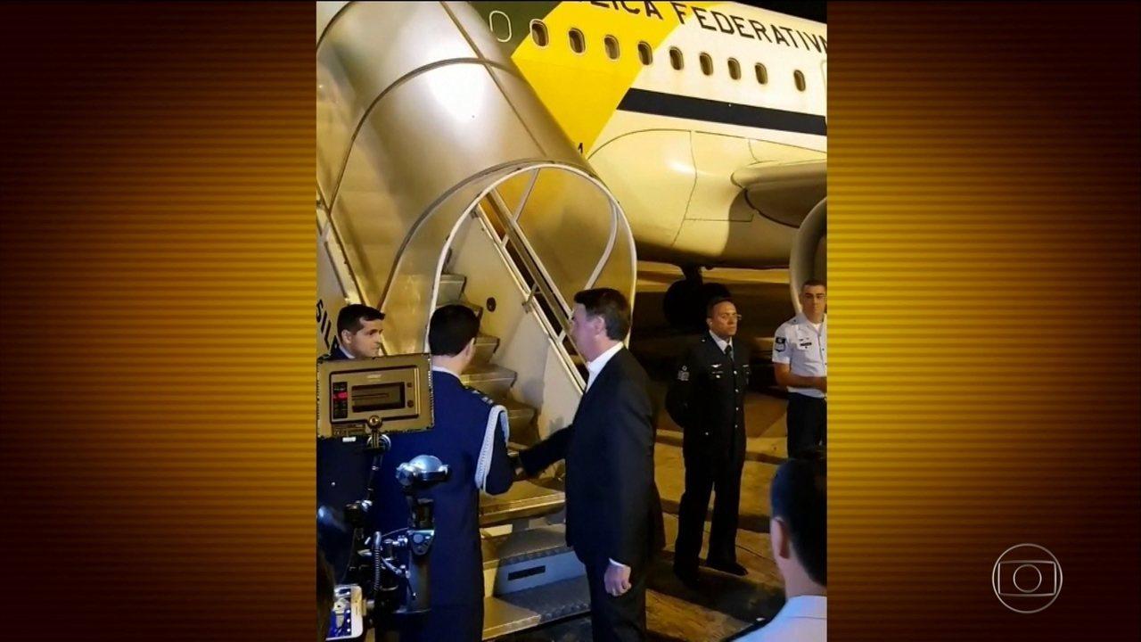 Bolsonaro participa da abertura do Fórum Econômico Mundial em Davos, na Suíça