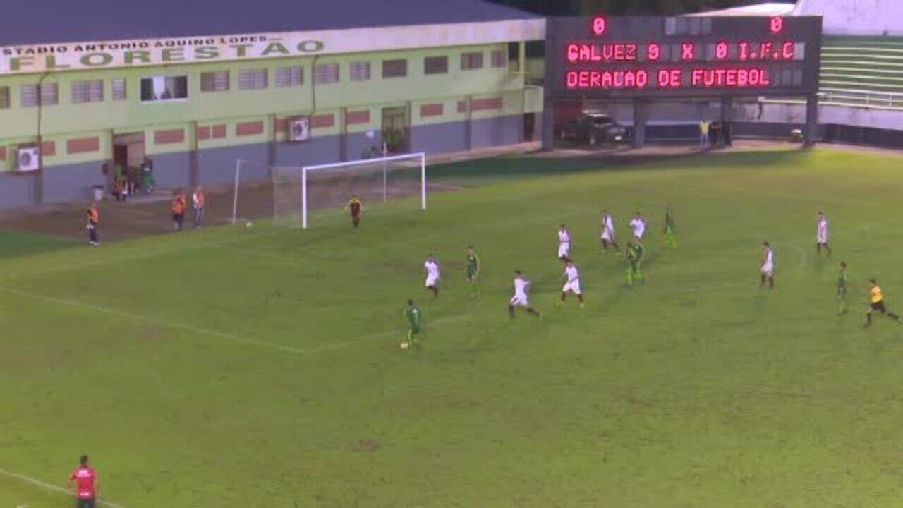 Galvez estreia com vitória diante do Independência