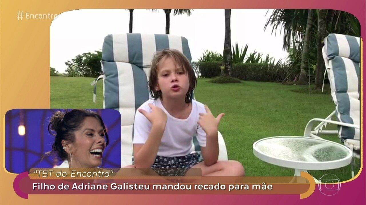 Adriane Galisteu relembra gravidez e se derrete com mensagem do filho