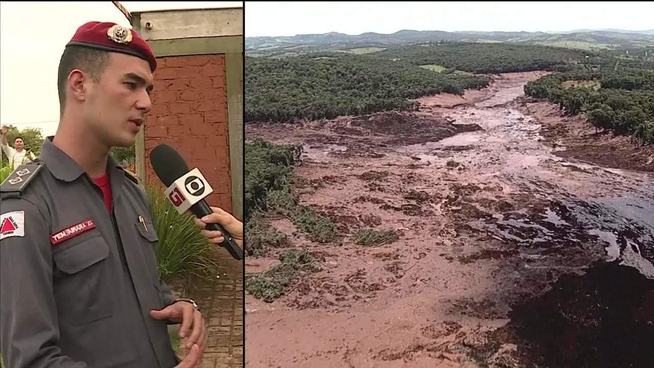 Bombeiros já resgataram sete vítimas do rompimento de barragem em Brumadinho/MG