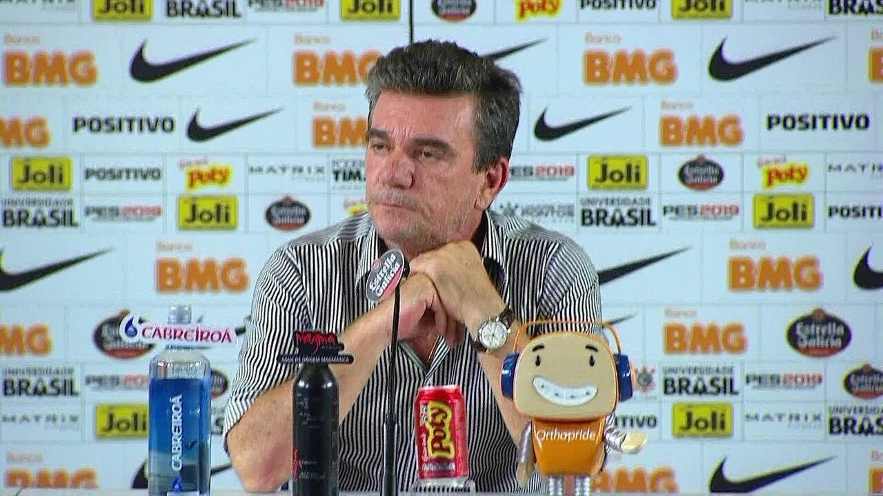 Andrés Sánchez concede entrevista coletiva após vitória contra Ponte Preta   veja 111e0bbd676c1