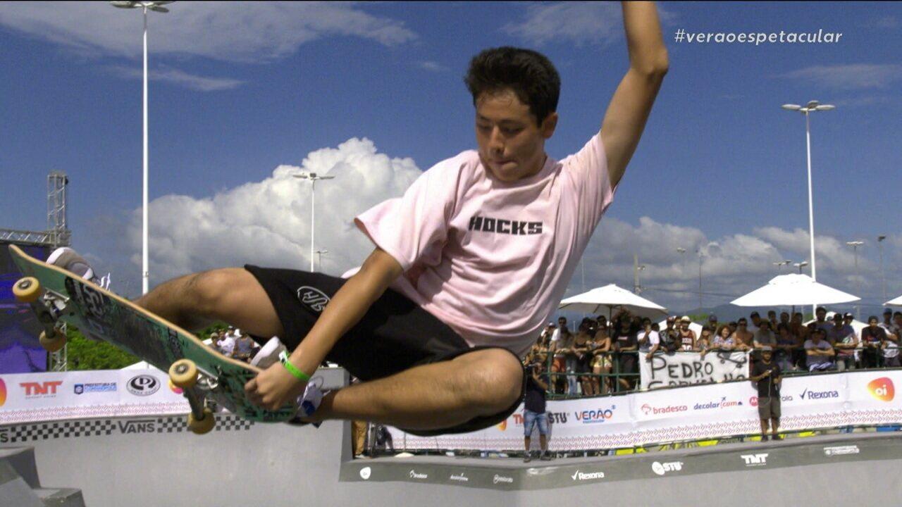 Augusto Akio fica com o terceiro lugar da etapa de Florianópolis do Circuito Brasileiro de Skate
