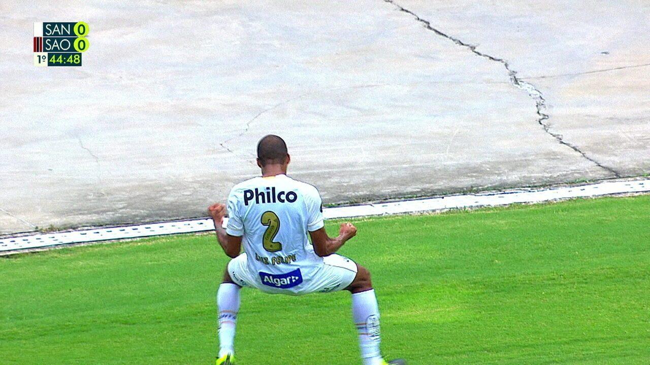 Luiz Felipe faz 1 a 0 para o Santos