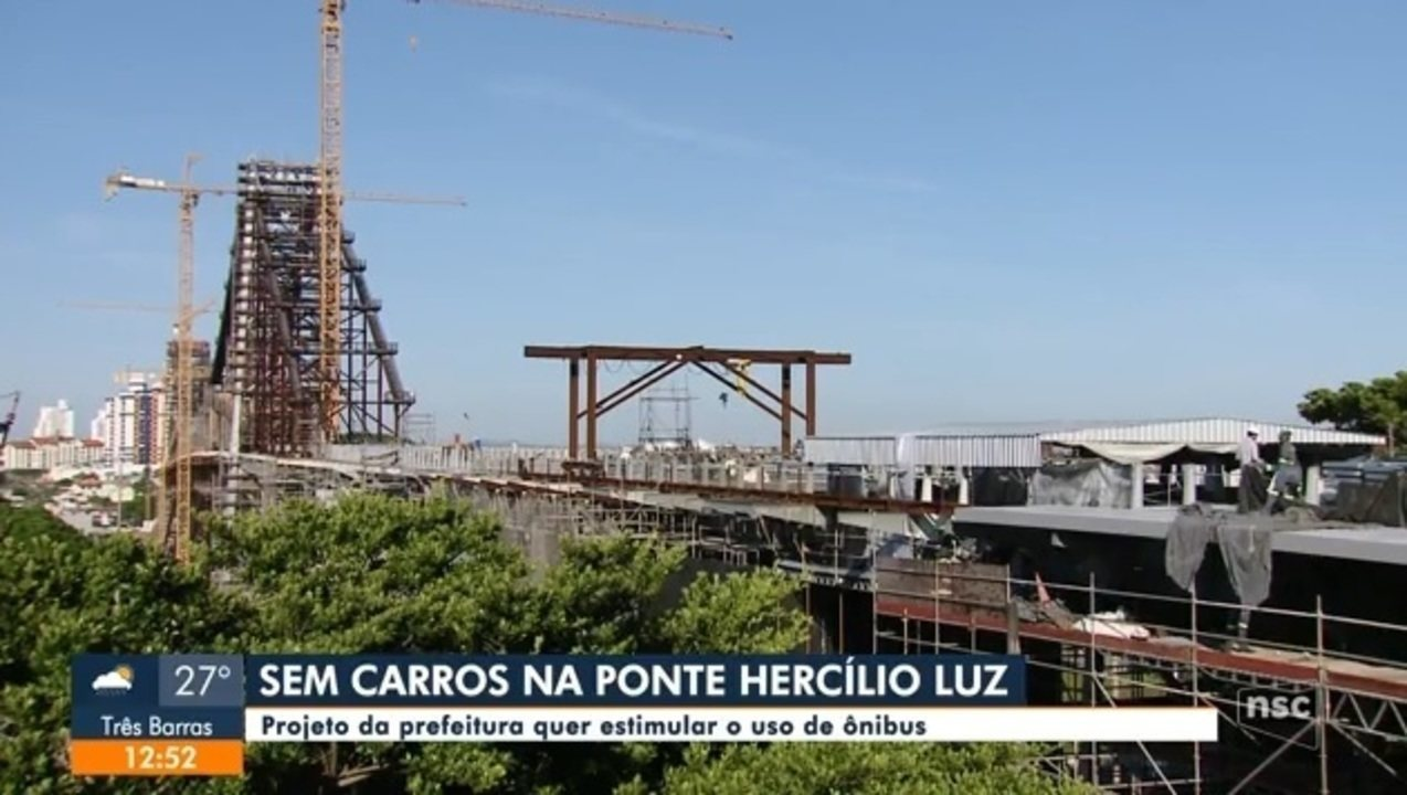 Projeto da Prefeitura de Florianópolis dá preferência para ônibus na Ponte Hercílio Luz