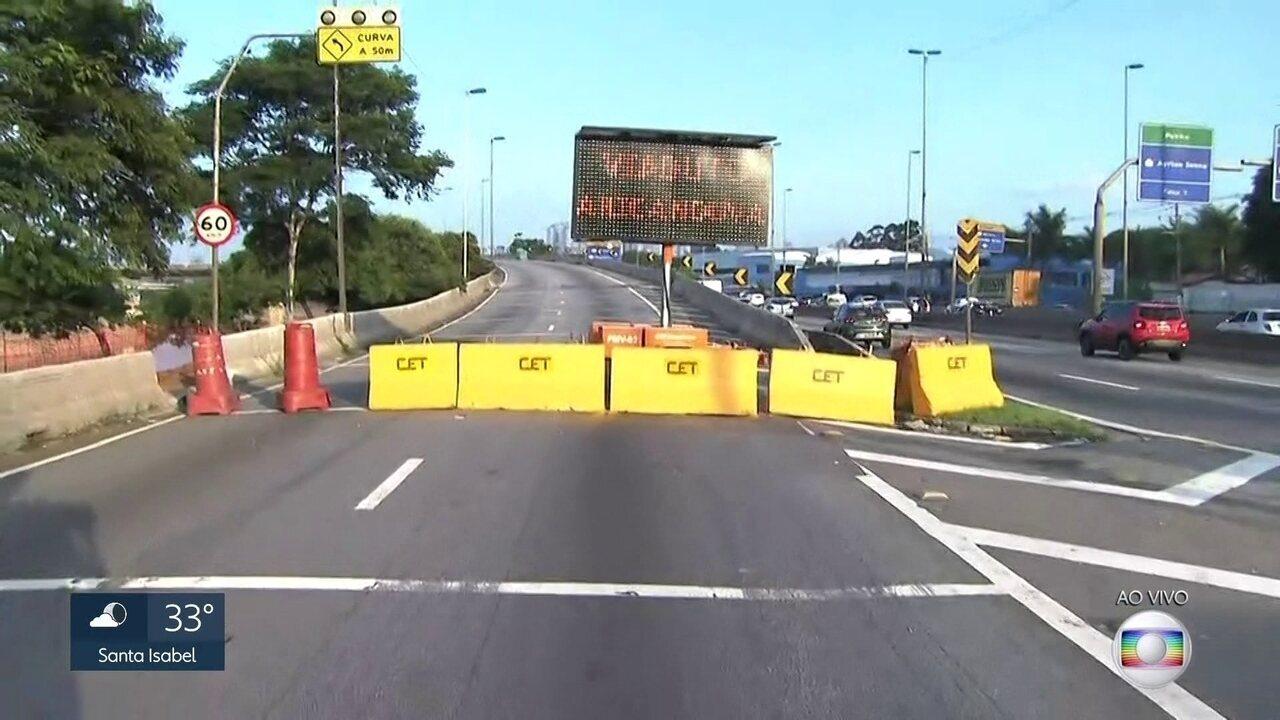 Obra em viaduto na Marginal Tietê pode levar mais tempo