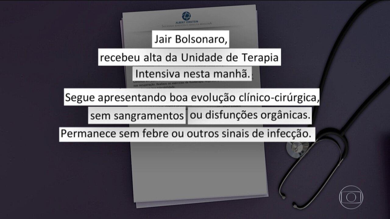 Bolsonaro Deixa Uti Do Hospital Albert Einstein Diz Boletim São
