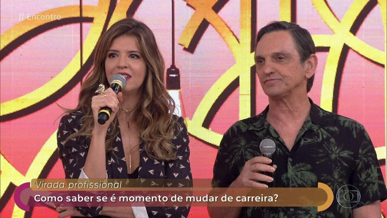 Paulo Miklos e Mariana Santos comentam guinadas na carreira