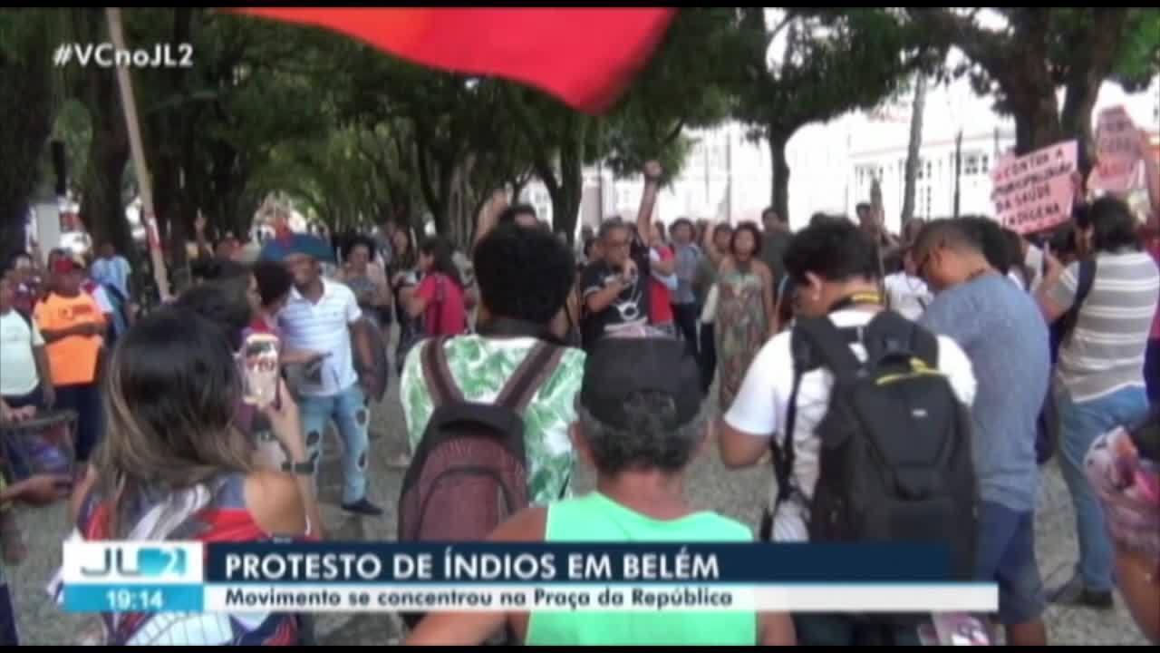 Em Belém, manifestação reúne representes indígenas, movimentos sociais e refugiados