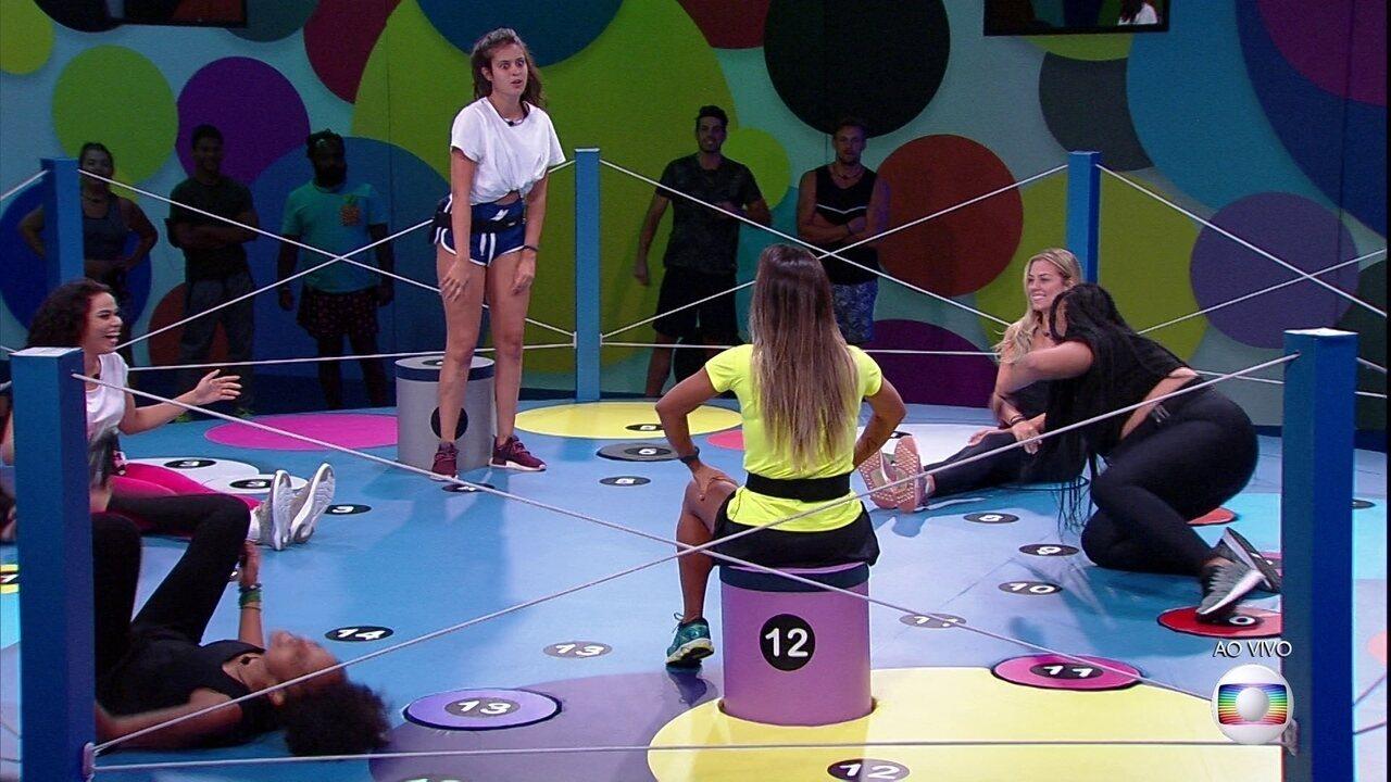 Prova do Líder Dança das Cadeiras: Elana, Isabella, Gabriela e Rízia são eliminadas