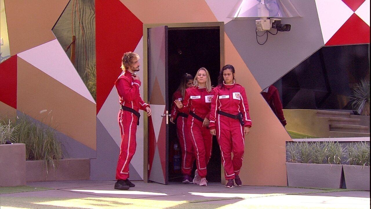Hariany, Isabella, Hana e Alan voltam para casa após a Prova do Anjo Fiat Circuito