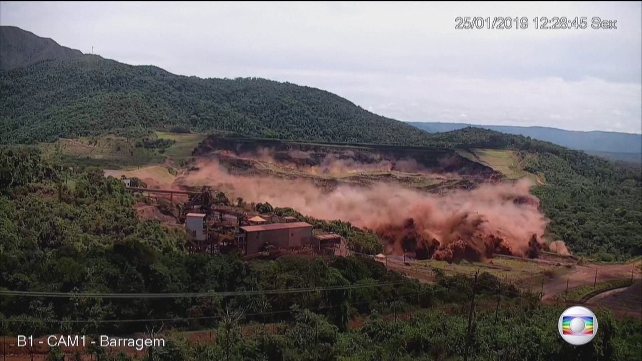 Boletim: imagens exclusivas mostram exato momento do rompimento da barragem em Brumadinho