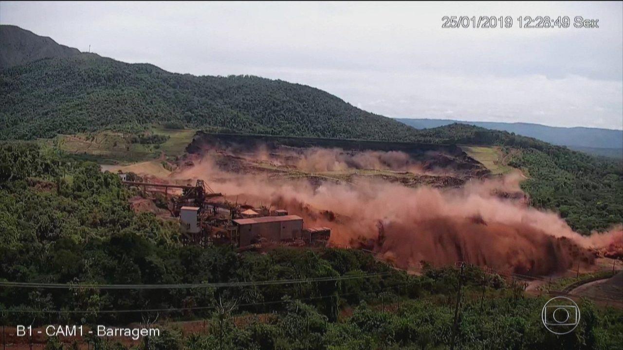 Imagens mostram momento do rompimento de barragem em Brumadinho
