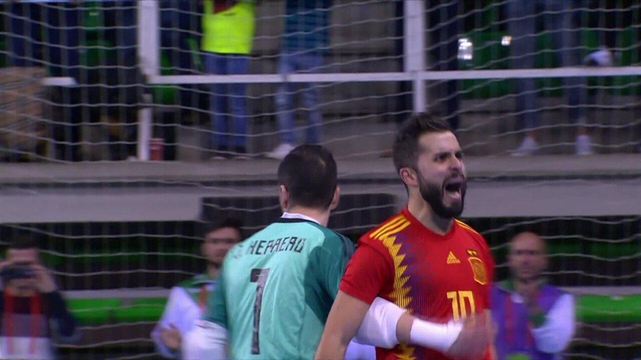 Os gols de Brasil 2 x 2 Espanha em amistoso de Futsal 7f34e681d9a2c