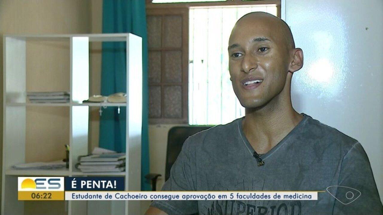 Estudante de Cachoeiro consegue aprovação em cinco faculdades de Medicina