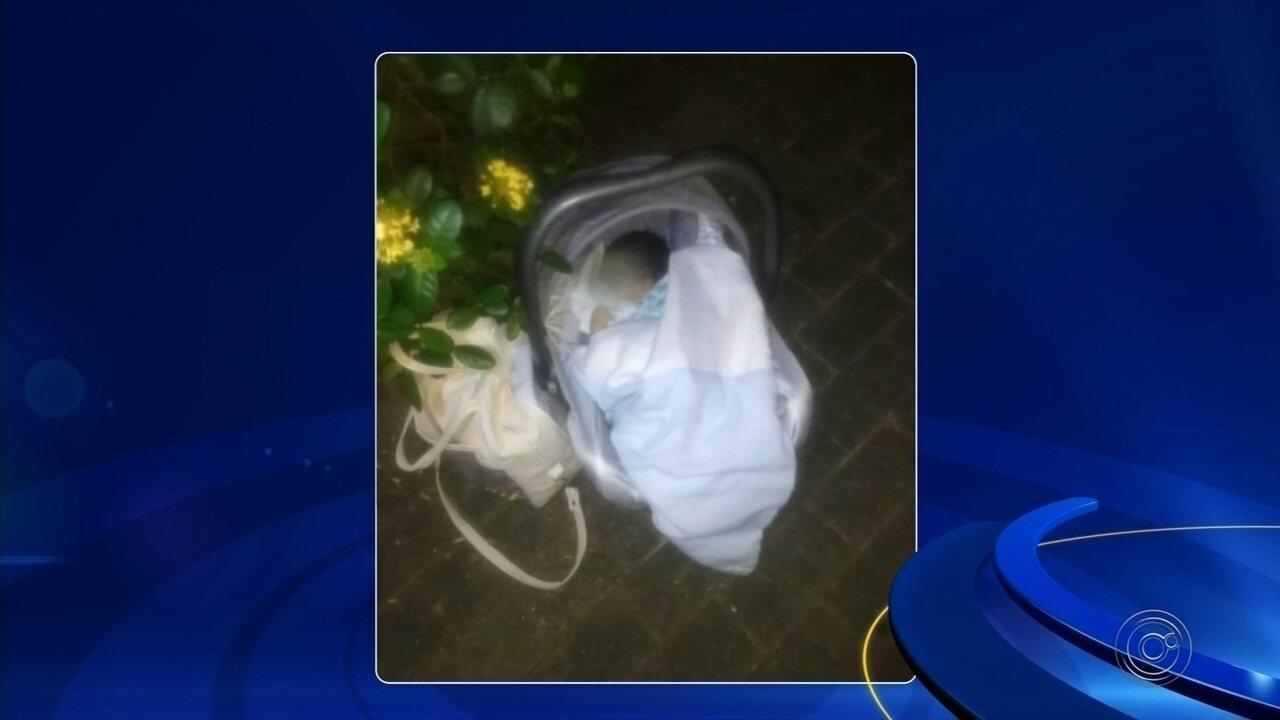 Recém-nascido é encontrado atrás de arbusto em praça de Rio Preto