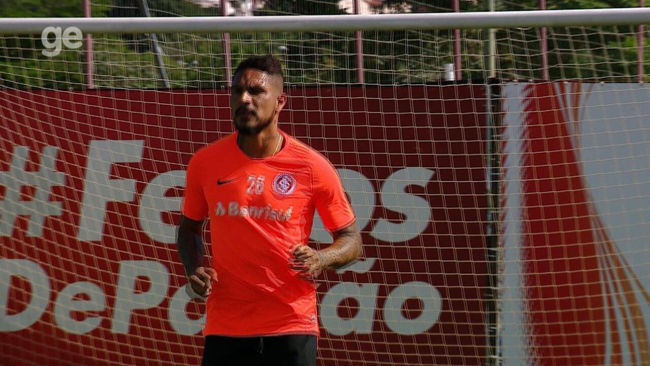 Guerrero volta a treinar com o elenco do Inter nesta terça-feira