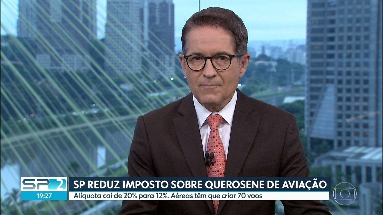 São Paulo reduz imposto sobre querosene de aviação