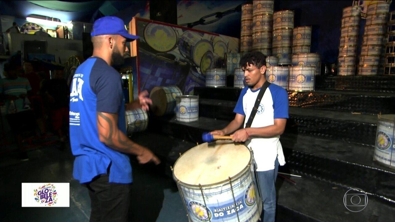 Carnaval inesquecível: ritmista cego vai tocar na bateria da Acadêmicos do Tucuruvi