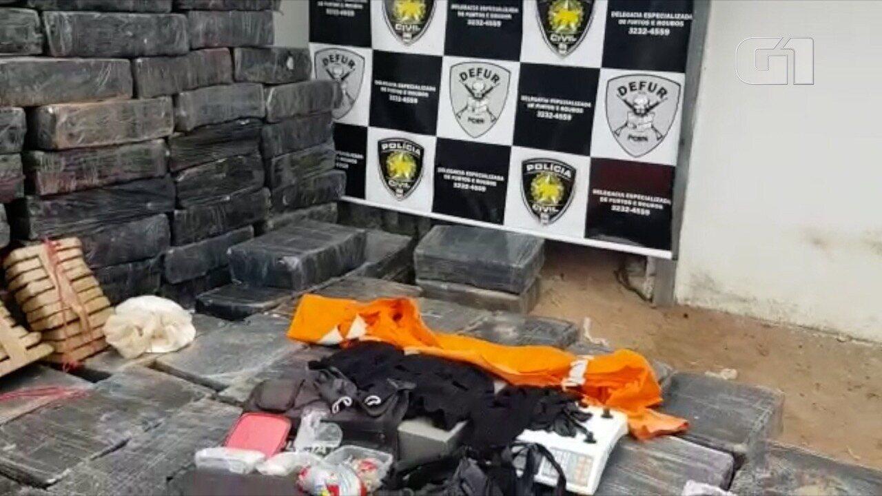 Vídeo mostra 'bunker' onde drogas e explosivos estavam escondidos