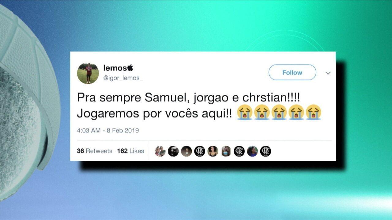 Jogadores que atuavam com as vítimas fazem homenagens em redes sociais