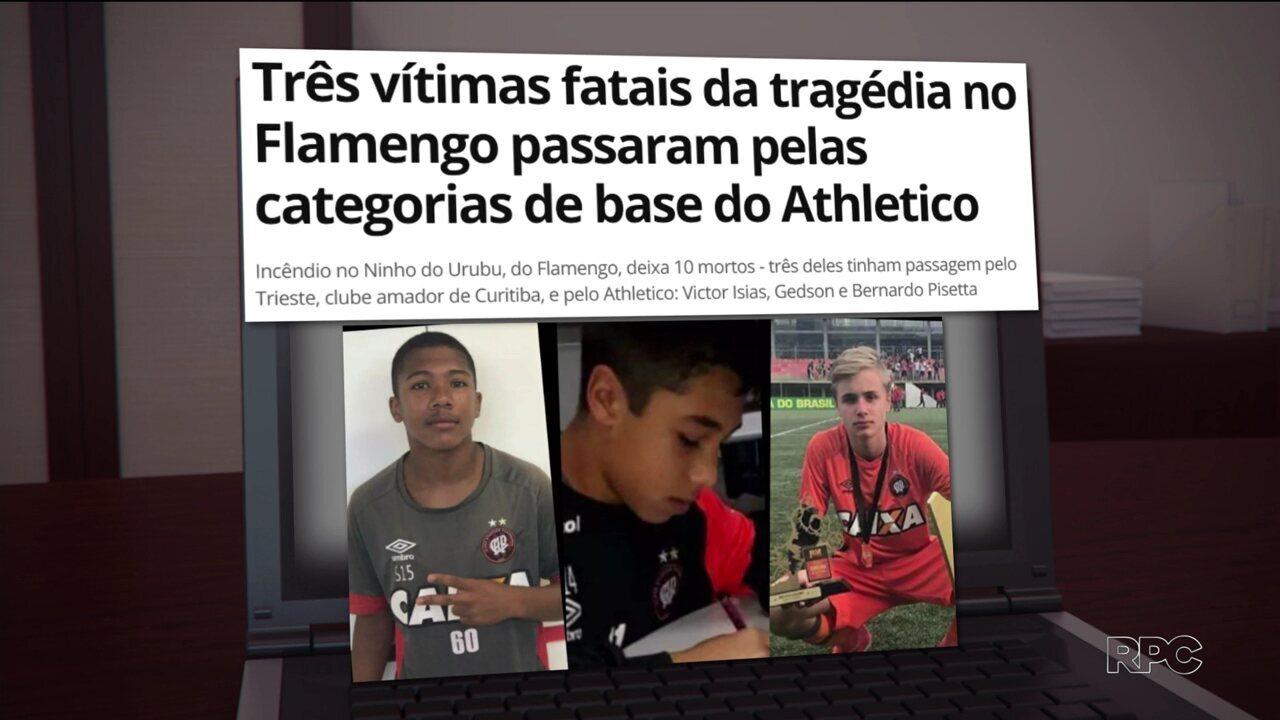 Meninos paranaenses escapam do incêndio no Ninho do Urubu, no Rio de Janeiro