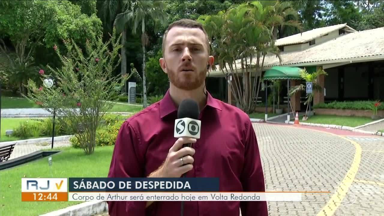 Corpo de Arthur Vinícius será velado no Cemitério Portal da Saudade, em Volta Redonda