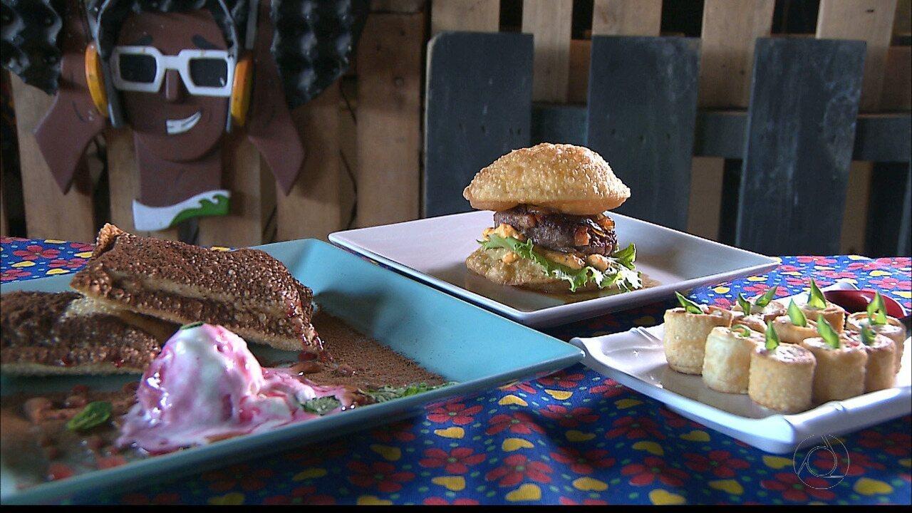 Chef JPB é recheado: sushi e hambúrguer feitos com massa de pastel