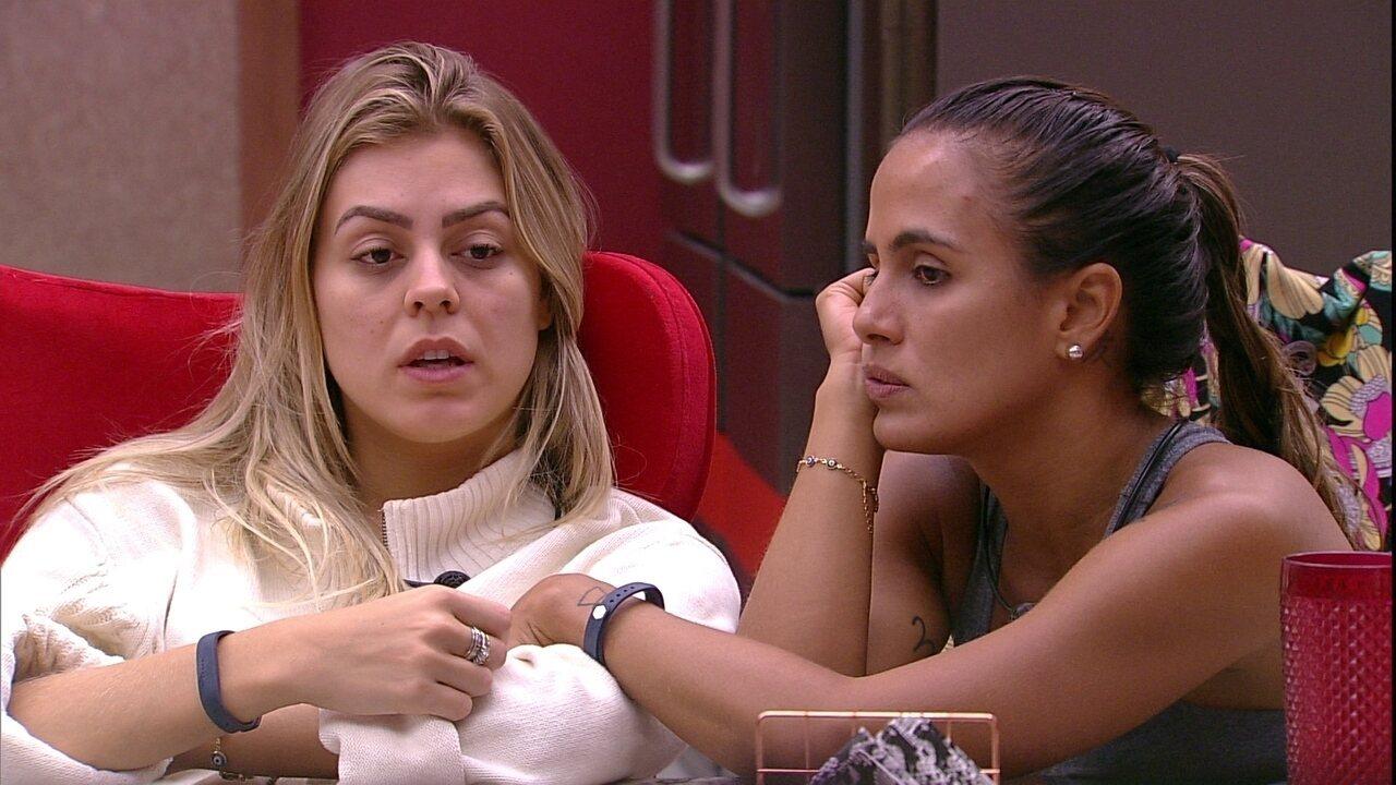 Isabella comenta com Carolina: 'Diego também é muito exagerado'