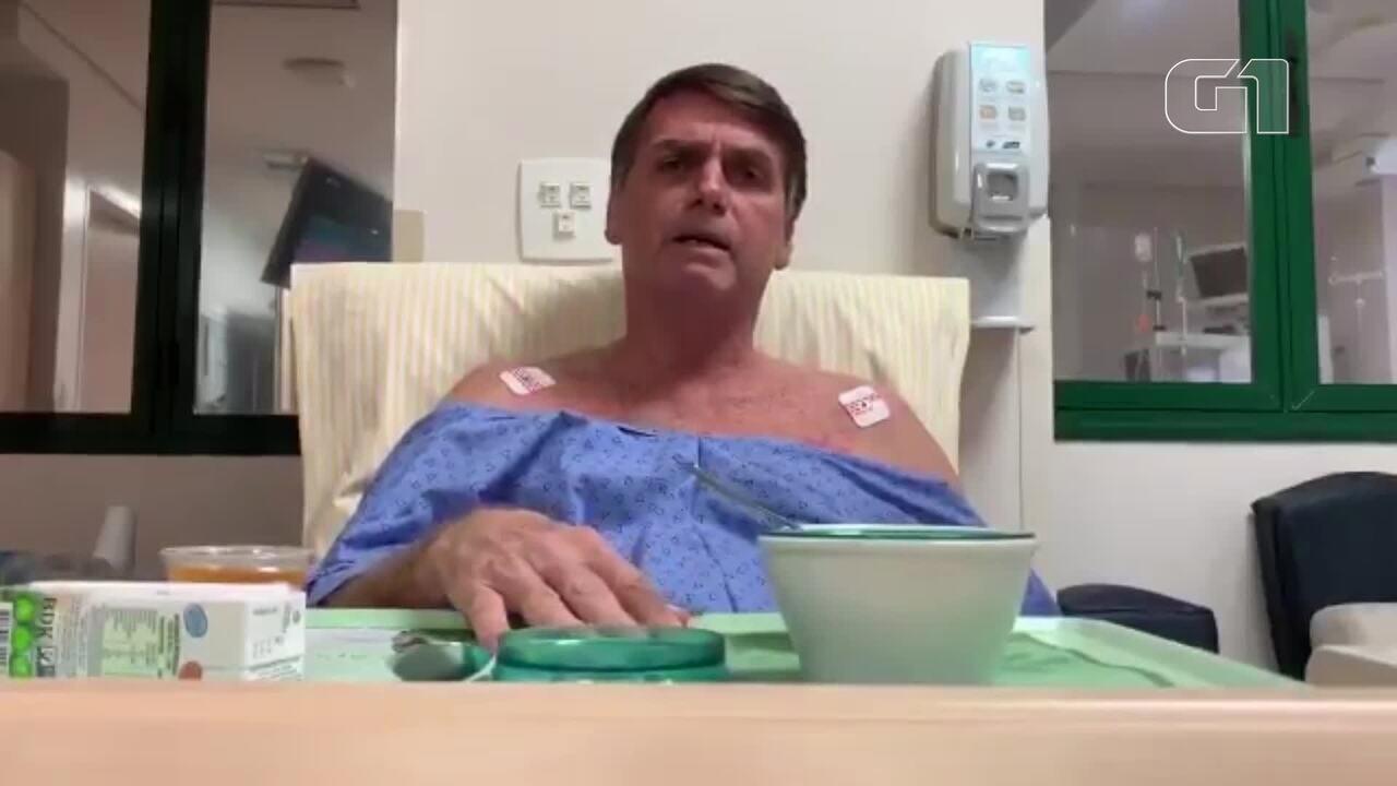 Resultado de imagem para Em vídeo no hospital, Bolsonaro agradece a médicos e diz que SUS 'pode melhorar muito'