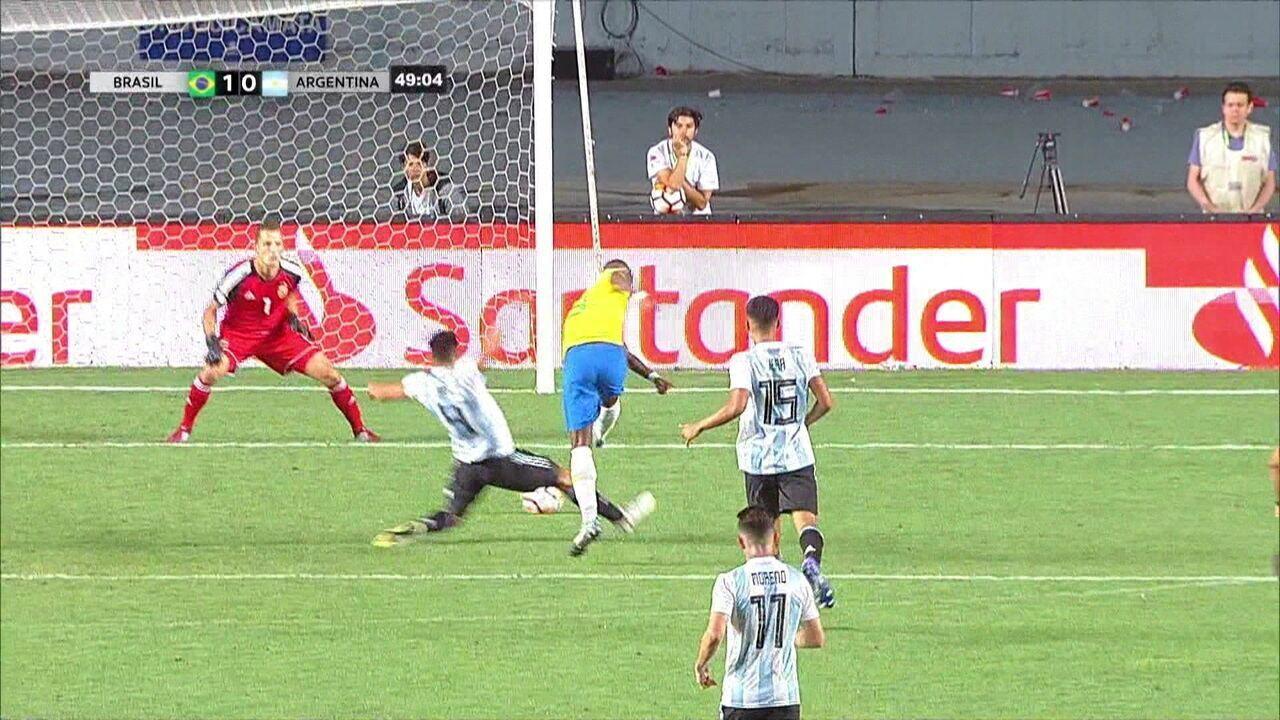 Melhores momentos de Brasil 1 x 0 Argentina pelo Sul-Americano Sub-20 2019
