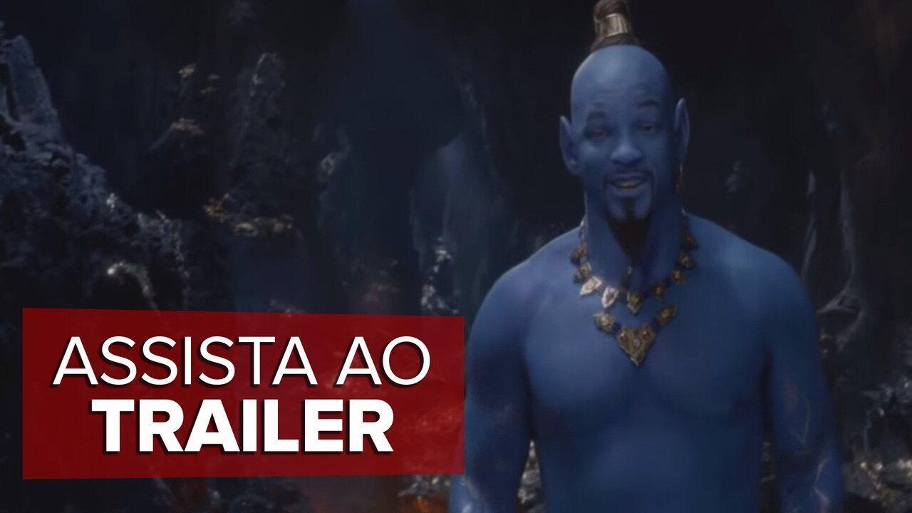 Aladdin ganha novo trailer com Will Smith aparecendo como Gênio da Lâmpada