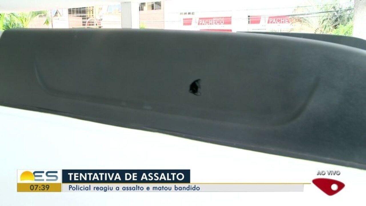 Policial reage a assalto e mata suspeito no ES