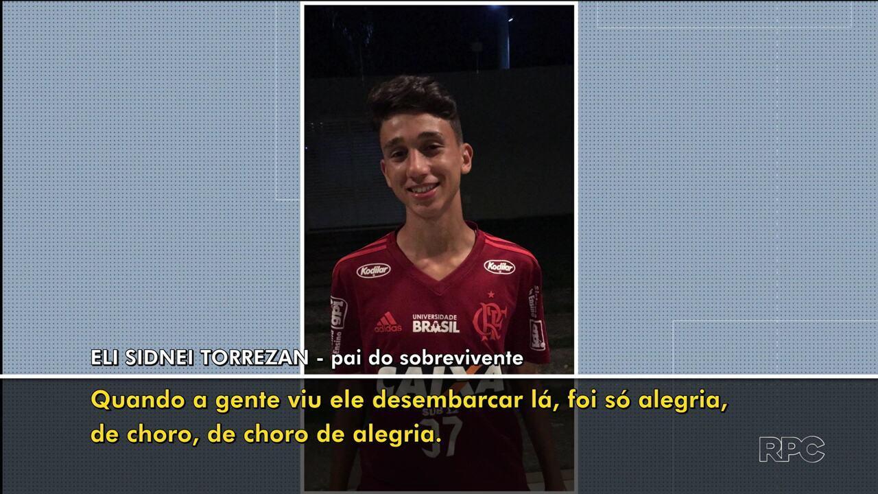 'Ele quer voltar para o Flamengo e jogar pelos amigos', diz pai de paranaense que escapou de incêndio no Ninho do Urubu