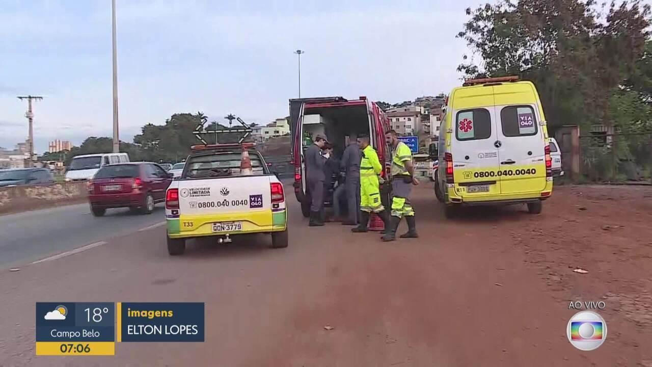 Acidente deixa feridos no Anel Rodoviário, em BH