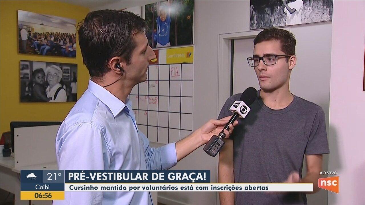 Instituto Vilson Groh, em Florianópolis, oferece cursinho pré-vestibular gratuito