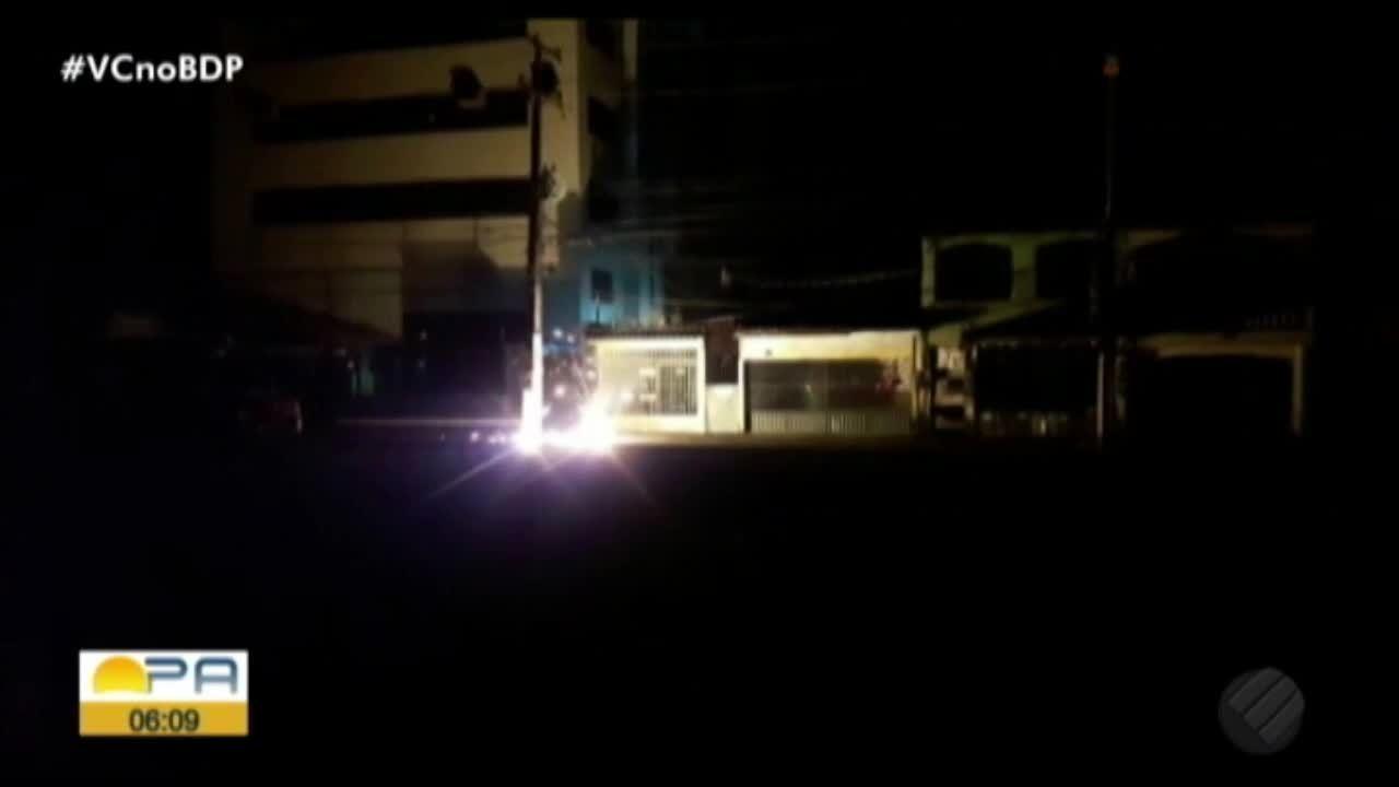 Fio de alta tensão se rompe na avenida Marquês de Herval durante a madrugada