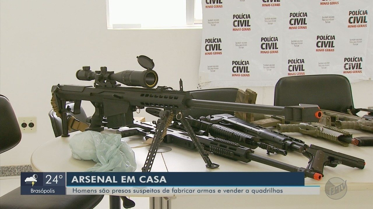 Torneiro mecânico é preso em MG suspeito de fabricar armas caseiras para quadrilhas de SP