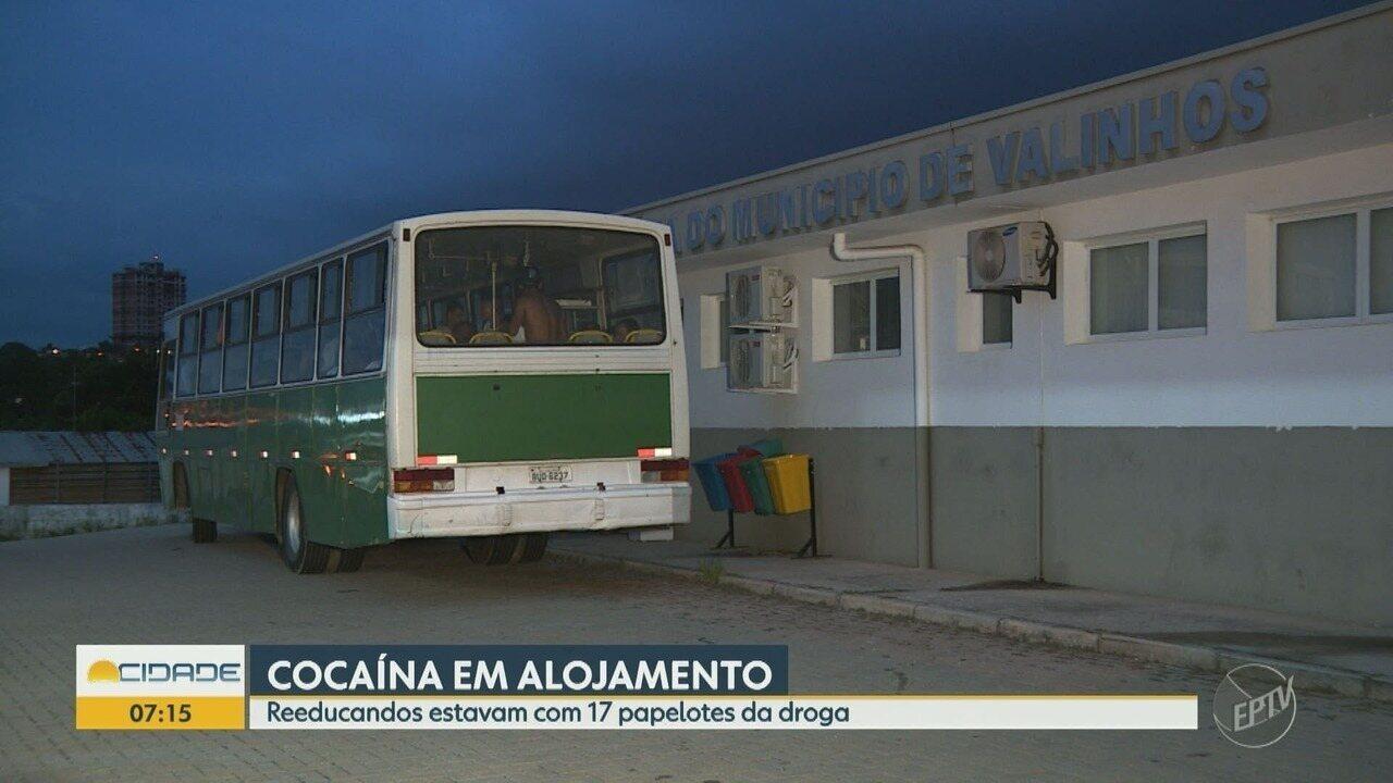 Guarda Civil de Valinhos apreende papelotes de cocaína em alojamento de reeducandos