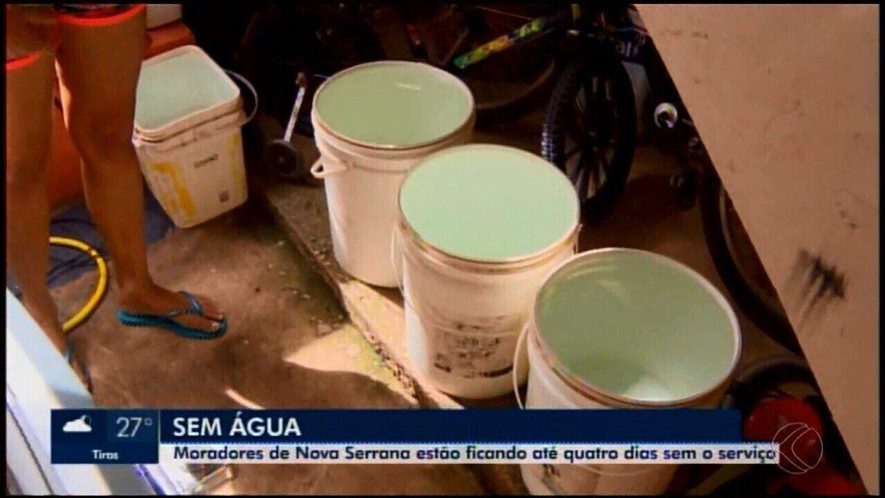 Sem abastecimento de água, Prefeitura de Nova Serrana decreta situação de emergência